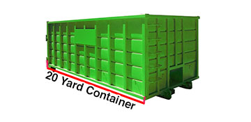 Summit County 20 Yard Dumpster Rental