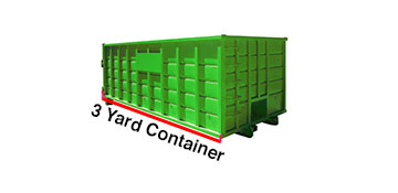 3 Yard Dumpster Rental Grayson County, TX