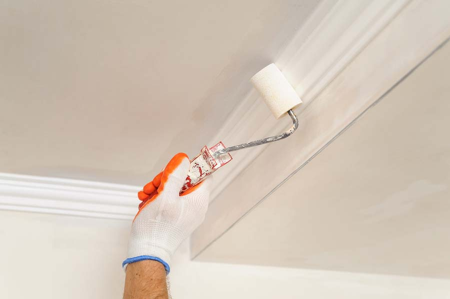 professional paint job painting crown molding