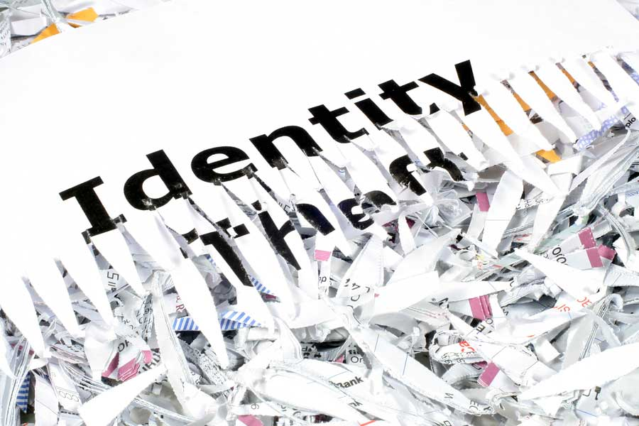 Identity Theft Protecton by shredding documents