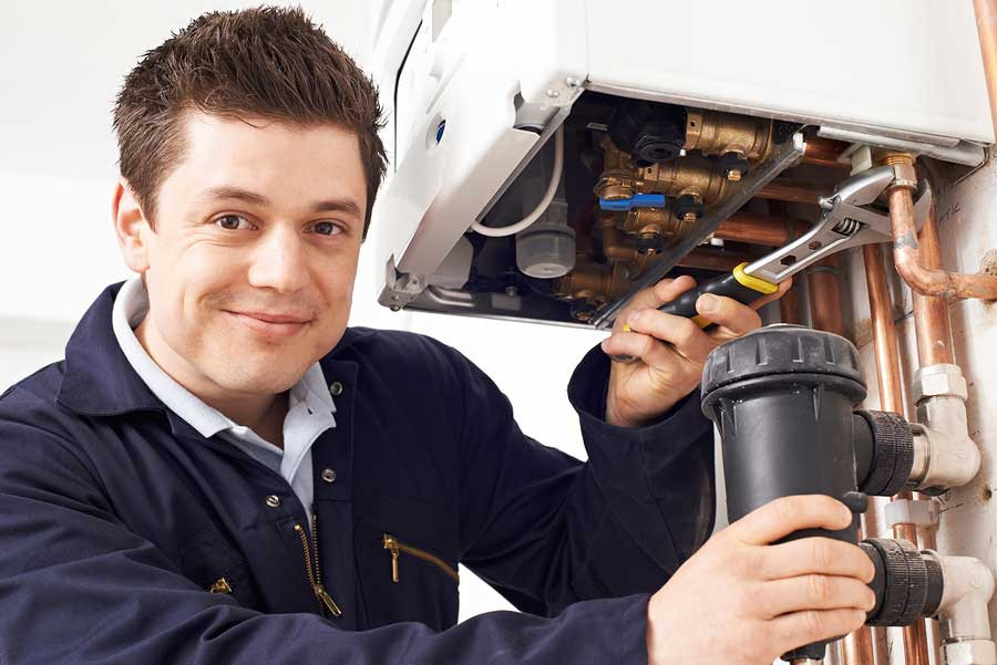 Professional Water Heater Service Technician