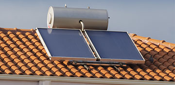 Athens County Solar Water Heater Installation